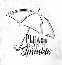 Umbrella graphics retro vector