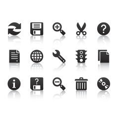 Universal software icons vector
