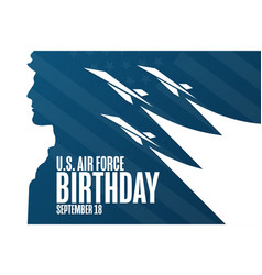 Us air force birthday september 18 holiday vector