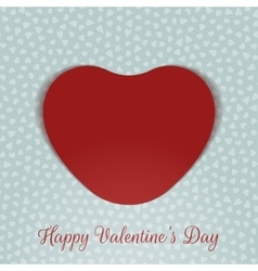 Valentines Day realistic red Card Heart vector image