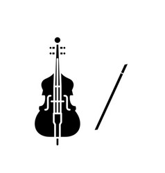 violin play black icon sign on isolated vector image
