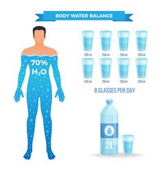 Water balance poster vector
