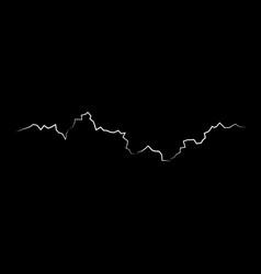 White lightning flash bolt bright light effects vector