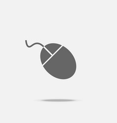 wired mouse flat design icon vector image