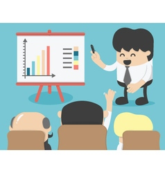 Business meeting brainstorming vector image
