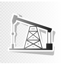 oil drilling rig sign new year blackish vector image vector image