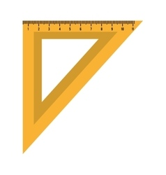 Ruler measurement isolated icon design vector image vector image