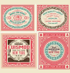 4 vintage labels set vector image vector image