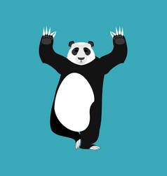 Panda yoga chinese bear yogi animal zen and relax vector