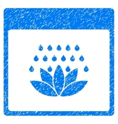 Spa Shower Calendar Page Grainy Texture Icon vector image