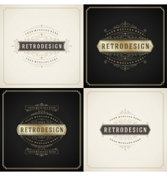 Vintage ornament golden and grunge style border vector image