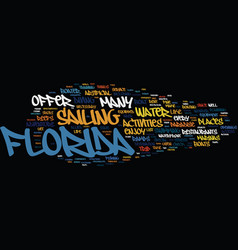 Enjoyable water adventure in florida text vector