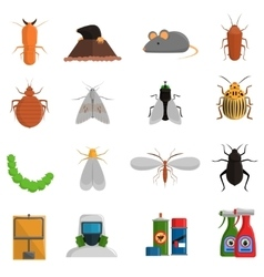 Pest Icons Set vector image vector image