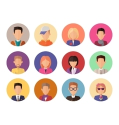 Portraits for Avatars Without Facial Features vector image vector image