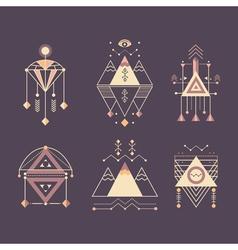 set of sacred geometry vector image