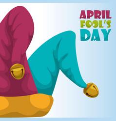 april fools day hat joker concept vector image vector image