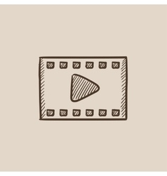 Film frame sketch icon vector image