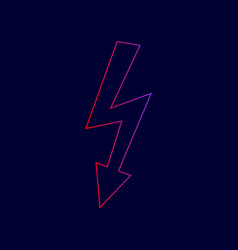 high voltage danger sign line icon with vector image