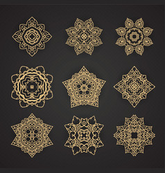 Thai art pattern design set vector image vector image