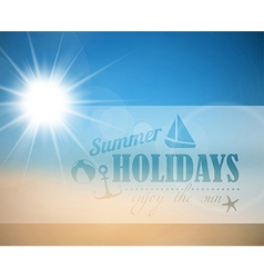 Abstract summer poster vector