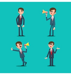 Angry Boss Director Shouting in Megaphone vector