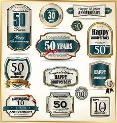 Anniversary labels vector image