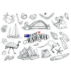 Australia symbols vector