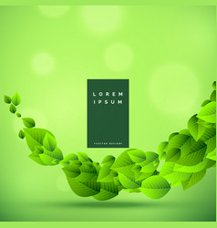 awesome green eco friendly nature background vector image
