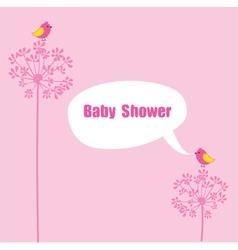 baby shower birds vector image
