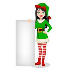 beautiful woman in costume of elf vector image