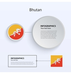 Bhutan Country Set of Banners vector