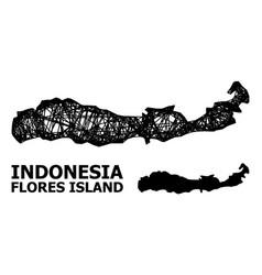 Carcass map indonesia - flores island vector