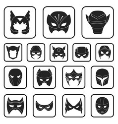 Carnival mask black icons in set collection for vector