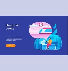 cheap train tickets concept 02 vector image
