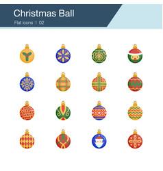 christmas ball icons flat design for presentation vector image