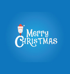 christmas logo with sanata vector image