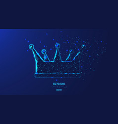 Concept luxury power and wealth crown from vector
