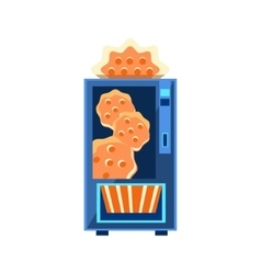 Cracker Vending Machine Design vector