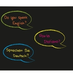 Do you speak foreign language vector image