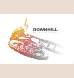 downhill mountain biking background vector image