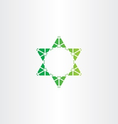 eco green star icon sign vector image
