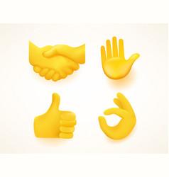 Emoji set for web and apps gestures vector