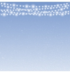 Falling snow Winter snowfall Garland vector