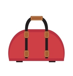 Female travel bag icon flat style Women isolated vector image