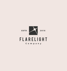 flare light logo hipster vintage retro icon vector image