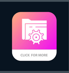 folder setting gear computing mobile app icon vector image