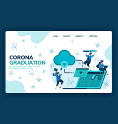 for corona graduation education scholarships vector image