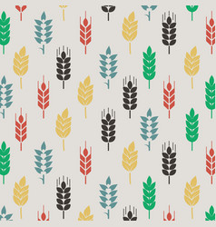 fullcolor wheat pattern background vector image