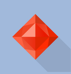 garnet stone icon flat style vector image