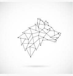 geometric wolf silhouette side view vector image